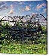 Old Weathered Plow Canvas Print