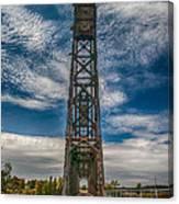Old Welland Lift Bridge 3d07057hp Canvas Print