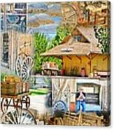 Old West Collage Canvas Print