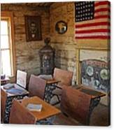 Old West School House Canvas Print