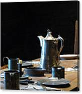 Old West Table Setting Canvas Print