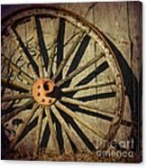 Old West Wagon Wheel Canvas Print