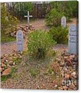 Old Western Gravesite Canvas Print