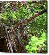 Old Wheelbarrow In The Weeds Canvas Print