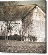 Old White Barn Canvas Print