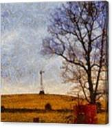 Old Windmill On The Farm Canvas Print