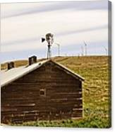 Old Windmill Vs New Windmills Canvas Print