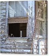 Old Windows Overlooking New World Canvas Print