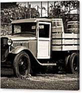 Old Wine Truck Malibu Canvas Print