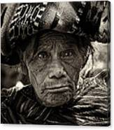 Old Woman Of Chichicastenango Canvas Print
