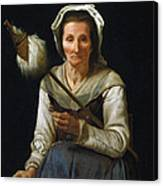 Old Woman Spinning, 1646-48 Canvas Print