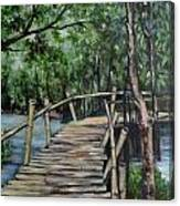 Old Wood Bridge Canvas Print