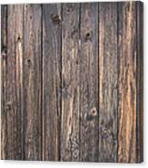 Old Wood Shack Exterior Background Canvas Print