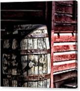 Old Wooden Barrel Canvas Print