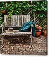 Old Wooden Garden Bench  Canvas Print