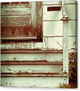 Old Wooden Porch Canvas Print