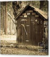Old Wooden Shed Yosemite Canvas Print