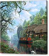 Old Woodland Cottage Canvas Print