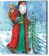 Old World Father Christmas4 Canvas Print