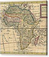 Old World Map Of Africa Canvas Print