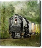 Old World Steam Engine Canvas Print