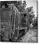 Old Yard Switcher Engine Valley Railroad Canvas Print