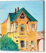 Old Yellow House In Downtown Oakland Canvas Print