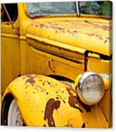 Old Yellow Truck Canvas Print