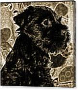 Olde World Canine Canvas Print