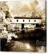 Olin Dewey Covered Bridge 35-04-03 Canvas Print