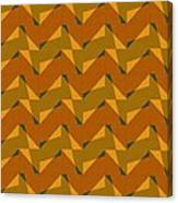 Olive Green And Orange Chevron Collage Canvas Print