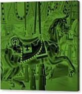 Olive Green Horse Canvas Print
