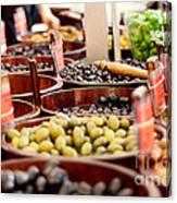 Olives In Barrels Canvas Print