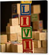 Olivia - Alphabet Blocks Canvas Print