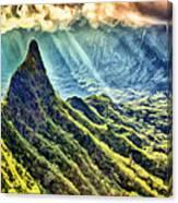 Olomana And The Koolau Range Canvas Print
