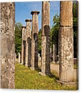 Olympia Ruins Canvas Print