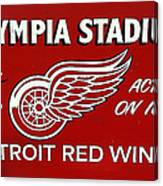 Olympia Stadium - Detroit Red Wings Sign Canvas Print