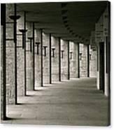 Olympiastadion Berlin Corridor Canvas Print