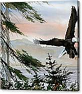 Olympic Coast Eagle Canvas Print