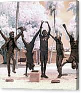 Olympic Wannabes Sculpture By Glenna Goodacre Near Infrared Canvas Print