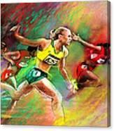 Olympics 100 Metres Hurdles Sally Pearson Canvas Print