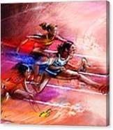 Olympics Heptathlon Hurdles 01 Canvas Print