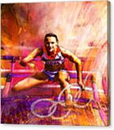Olympics Heptathlon Hurdles 02 Canvas Print