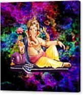 Om Shanti Ganesh Canvas Print