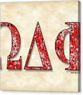 Omega Delta Phi - Parchment Canvas Print