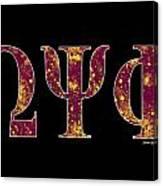 Omega Psi Phi - Black Canvas Print