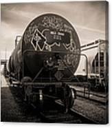 Ominous Train Under Dark Skies In New Orleans Canvas Print