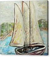 On A Cloudy Day - Impressionist Art Canvas Print