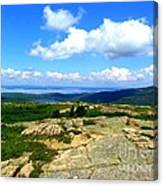 On A Mountain In Maine Canvas Print