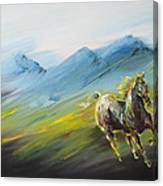 On A Road Canvas Print